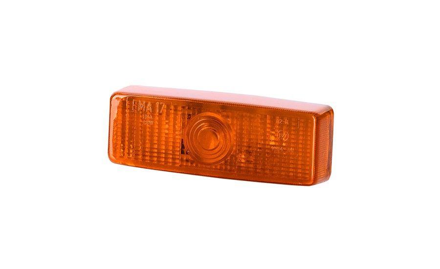 Габаритный,  прямоугольный фонарь, оранжевый (на защёлку, без винтов)