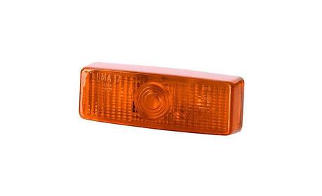 Габаритный,  прямоугольный фонарь, оранжевый (на защёлку, без винтов), фото 2