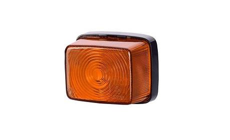 Габаритный, квадратный фонарь, оранжевый , фото 2