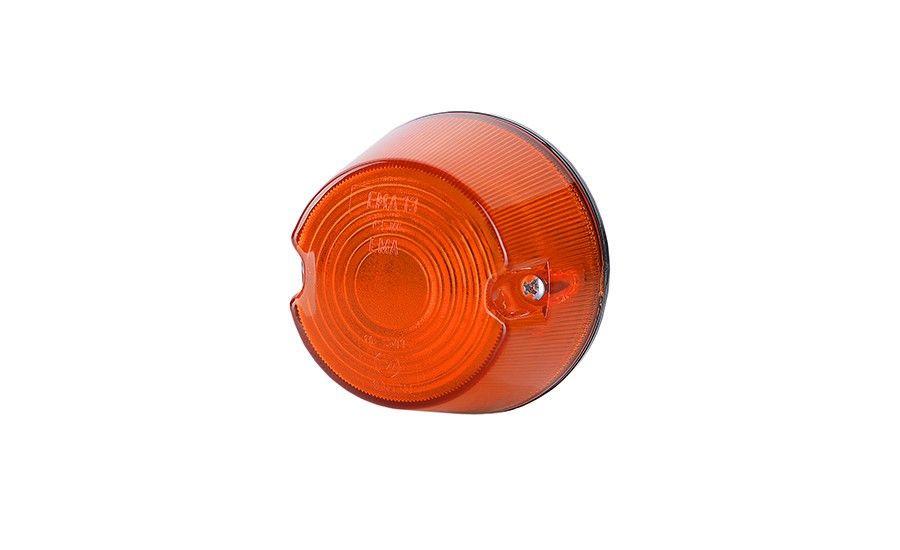 Габаритный, круглый фонарь, оранжевый