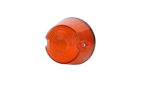 Габаритный, круглый фонарь, оранжевый , фото 2
