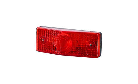 Габаритный, плоский фонарь, красный, фото 2