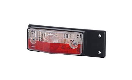 Габаритный фонарь с кронштейном на винты, красно-белый, фото 2