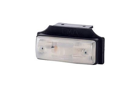 Габаритный, плоский фонарь II, с кронштейном, белый , фото 2