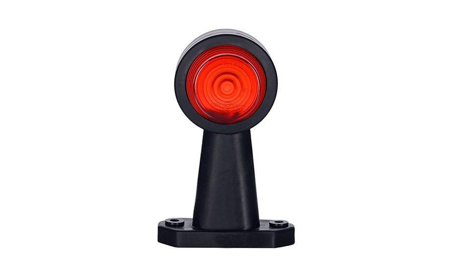 Габаритно - выносной фонарь HOR 50, на прямом, длинном рожке (красно-белый)