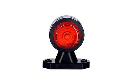 Габаритно - выносной фонарь HOR 50, на коротком рожке (красно-белый), фото 2