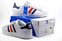 Кроссовки Adidas Superstar мужские, белые, р. 44
