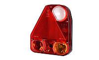 Треугольный задний комбинированный фонарь HOR 56, левый со светом заднего хода