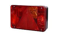 Задний правый комбинированный фонарь с треугольником, противотуманным светом (межцентровое отверстие 152 мм), на винтах