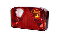 Задний комбинированный фонарь HOR 68, с треугольником, правый с противотуманным светом и светом заднего хода + светодиодное освещение номерного знака,