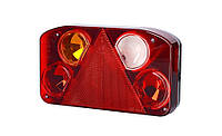 Задний комбинированный фонарь HOR 68, с треугольником, левый с противотуманным светом и светом заднего хода + светодиодное освещение номерного знака,