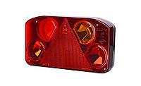 Задний комбинированный фонарь HOR 68, с треугольником, правый с противотуманным светом + светодиодное освещение номерного знака, 12/24 V