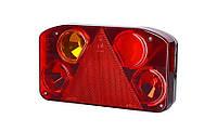 Задний комбинированный фонарь HOR 68, с треугольником, левый с противотуманным светом + светодиодное освещение номерного знака, 12/24 V