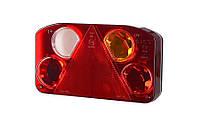 Задний комбинированный фонарь HOR 68, с треугольником, правый с противотуманным светом и светом заднего хода, без освещения номерного знака