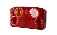 Задний комбинированный фонарь HOR 68, с треугольником, левый с противотуманным светом и светом заднего хода, без освещения номерного знака