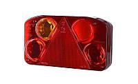 Задний комбинированный фонарь HOR 68, с треугольником, левый с противотуманным светом, без освещения номерного знака