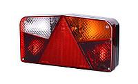 Задний, правый, комбинированный фонарь с треугольником со светом заднего хода (межцентровое отверстие 150,7 мм), на винтах. Лампочки 1xР21W\5W,
