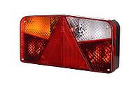 Задний, левый, комбинированный фонарь с треугольником, с противотуманным светом (межцентровое отверстие 150,7 мм), на винтах, лампочки 1xР21W/5W,