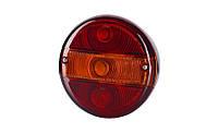 Задний комбинированный фонарь тип AVIA для прицепа, без освещения номерного знака, на винтах (межцентровое отверстие 44 мм), лампочки 2xР21W, 1xR5W