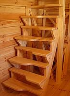 """Лестница деревянная """"гусиный шаг"""""""