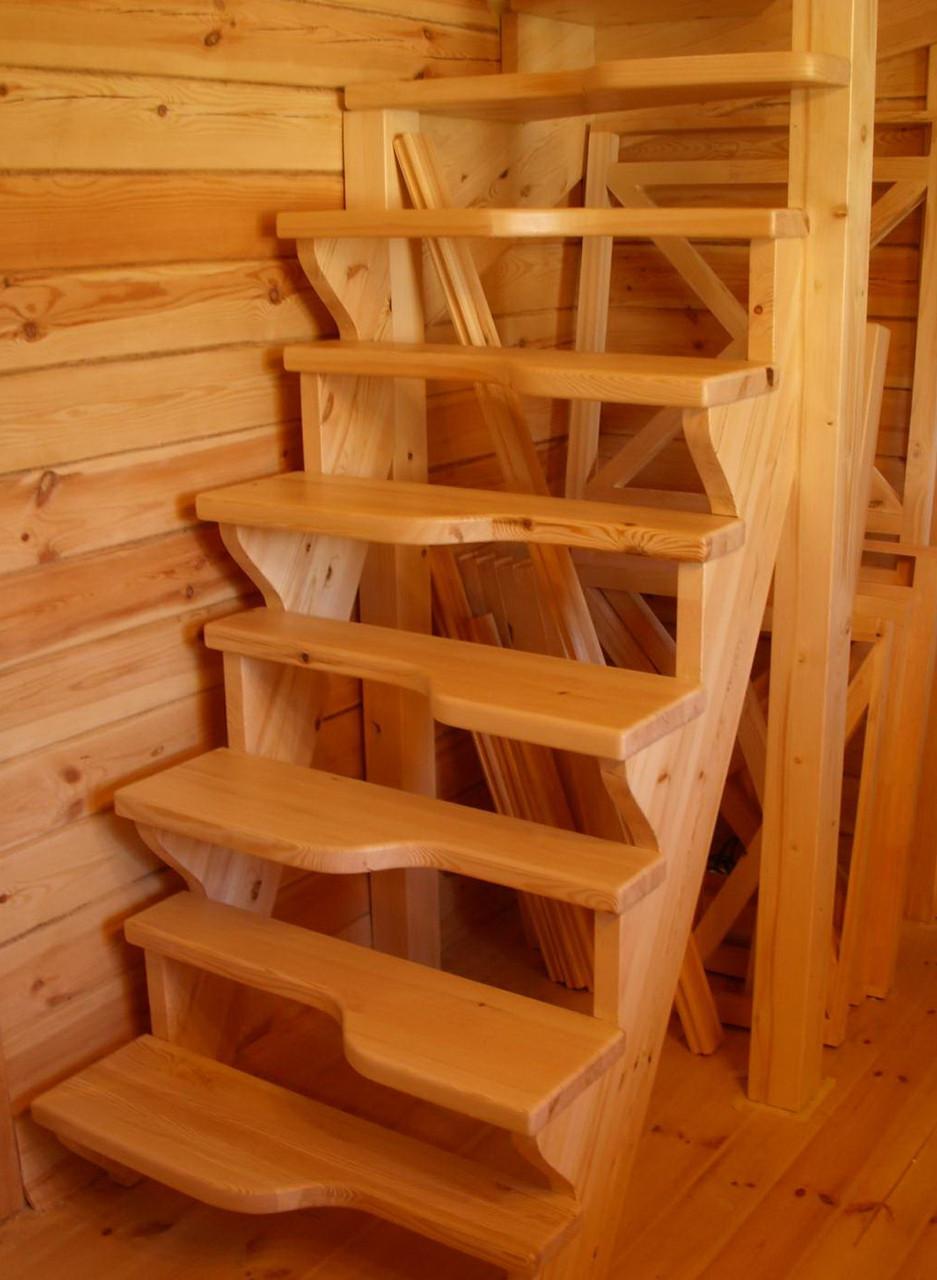 """Лестница деревянная """"гусиный шаг"""", фото 1"""