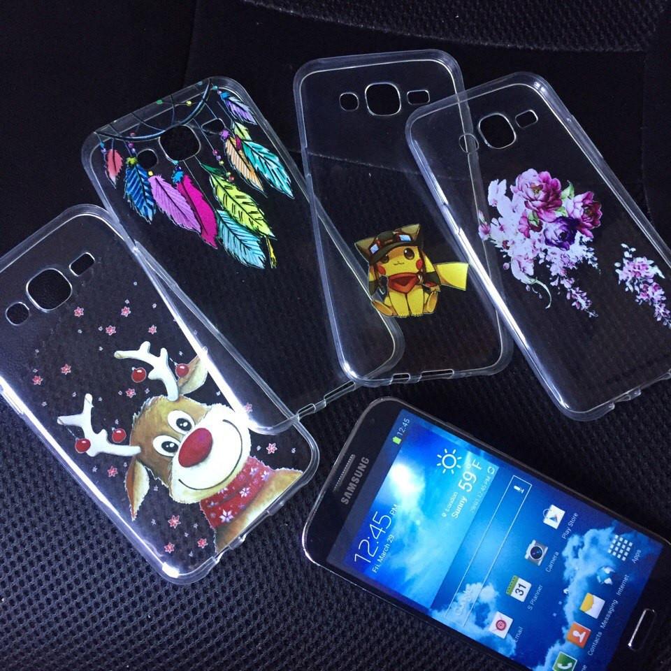 Чехлы для Samsung Galaxy J7 2015 (J700h) силиконовые с дизайном