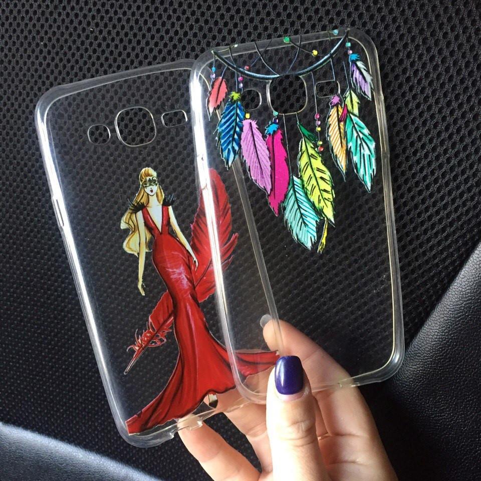 Чехлы для Samsung Galaxy J1 2015 (J100h) силиконовые с картинкой