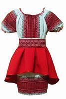 Платье вышиванка с  коротким рукавом  для девочки., фото 1