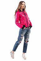 Жіноча куртка-бомбер 1810 малина