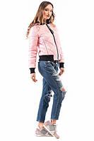 Жіноча куртка-бомбер 1810 рожева