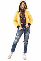 Жіноча куртка-бомбер 1810 жовта