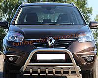 Защита переднего бампера кенгурятник из нержавейки на Renault Koleos 2013