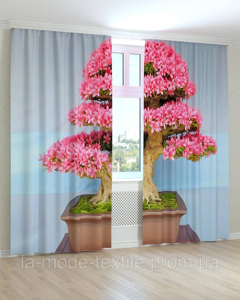 Фото шторы 3d Цветущий Бонсай