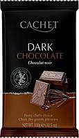 Чистый Черный Шоколад 53% какао CACHET DARK CHOCOLATE 53% COCOA 300г, фото 1