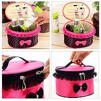 Удобная косметичка с молнией Bow storage bag  (Боу Стореж бег)