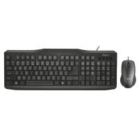 Проводной набор набор мышка и клавиатура trust classicline wired keyboard and mouse (21873)