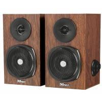 Деревянные аудио колонки 2.0 trust vigor speaker set for pc and laptop (21759)