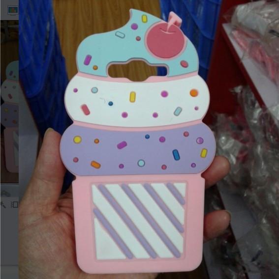 "Samsung G532 J2 Prime оригинальный 3D TPU чехол бампер защита 360* объемный  ""ICE CREAM MOSCHINO Pink"""
