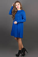 Модное трикотажное платье Ситти (электрик) А-силуэта 44-52 размер, фото 1