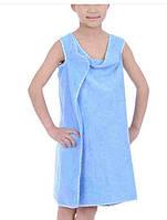 Банное детское полотенце-сарафан из микрофибры