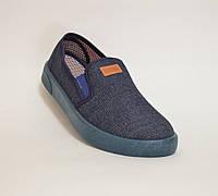 Мужские мокасины оптом джинс SV 03 синие , фото 1