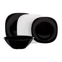 Столовый сервиз luminarc carine white black 19 предметов для 6 персон (n1491)