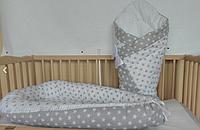 Конверт-одеяло + люлька-кокон для новорожденного - набор