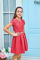 Платье для девочки подросток Зоряна р.140-158коралл