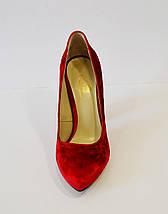 Красные бархотные туфли Lirio 64, фото 3