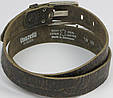 Мужской кожаный ремень под рептилию, Tom Tailor, Германия, 100075 коричневый, 3,5х118 см, фото 5