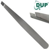 DUP Пинцет 02-0029 профессиональный для бровей скошенный широкий Professional