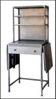 Буфет Irn Kitchen Unit 15022. Цвет серый. Буфет в стиле Лофт. Ручная работа. Сделано в Индии.