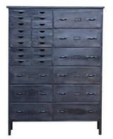Буфет Irn Kitchen Unit 15023. Цвет серый. Буфет в стиле Лофт. Ручная работа. Сделано в Индии.