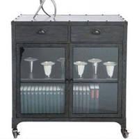Буфет Irn Kitchen Unit 15031. Цвет серый. Буфет в стиле Лофт. Ручная работа. Сделано в Индии.